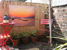 sunset garden canvas